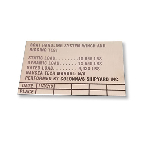 Engraved Stainless Plate